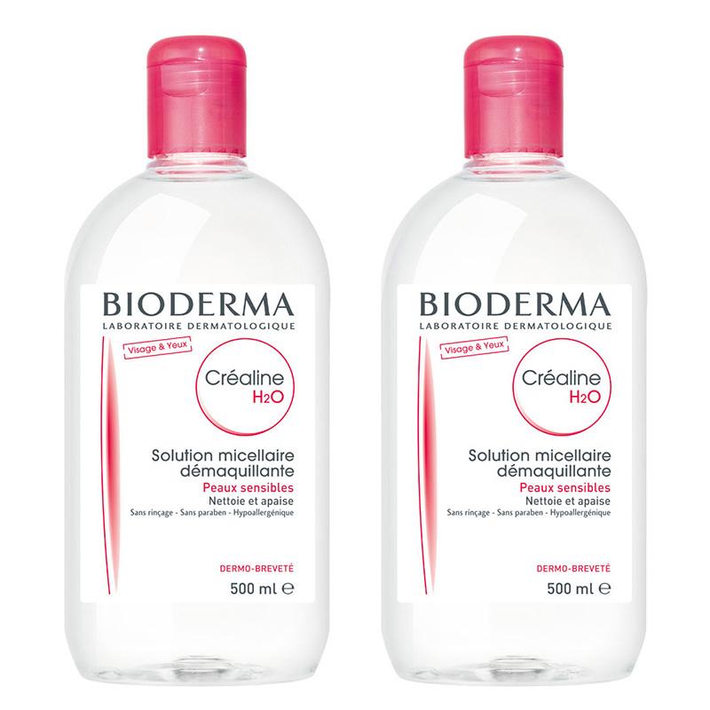 Bioderma Sensibio (Crealine) H2O 500ml (แพ็คคู่ ถูกกว่า)