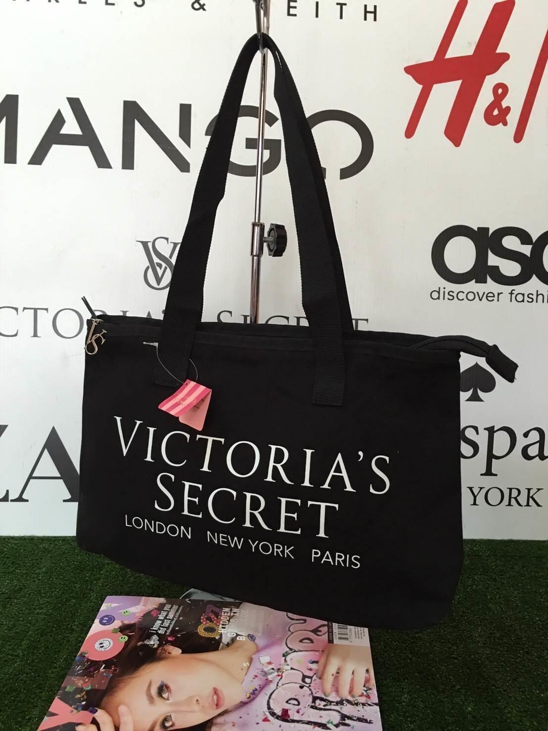 VICTORIA'S SECRET กระเป๋าผ้าแคนวาส