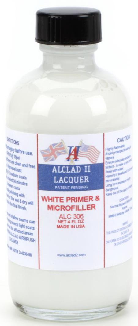 ALC-306 WHITE PRIMER & MICROFILLER รองพื้นขาว (4 oz.)