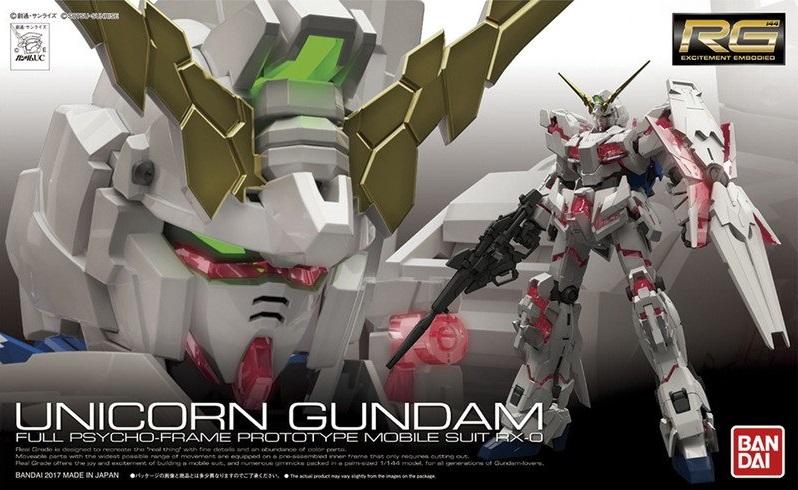 RG 1/144 Unicorn Gundam 3,800Yen หน้ากล่องปกติ