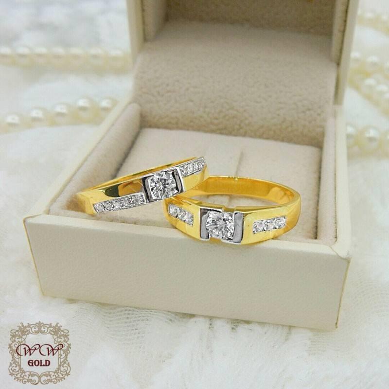 แหวนคู่ (เพชรสวิสcz)