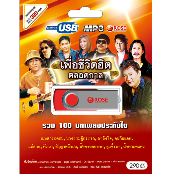 USB/100เพลง เพื่อชีวิตฮิตตลอดกาล/290