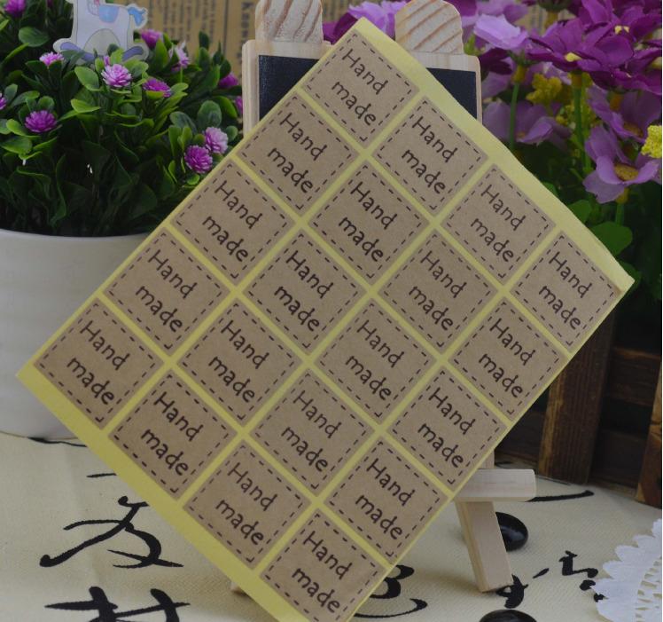 สติ๊กเกอร์ แต่งถุงเบเกอรี่ กล่องเบเกอรี่ ลาย HAND MADE BAKE111