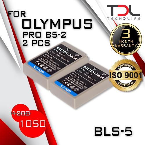 PRO B5-2 แบตเทียบ Olympus BLS-5 BLS5 OMD-EM10, EM10II,EM10MKII,PEN,E-PL2,E-PL5