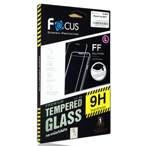 โฟกัสกระจกนิรภัยเต็มจอสีดำ (FOCUS FULL FRAME TEMPERED GLASS) Apple iPhone 7