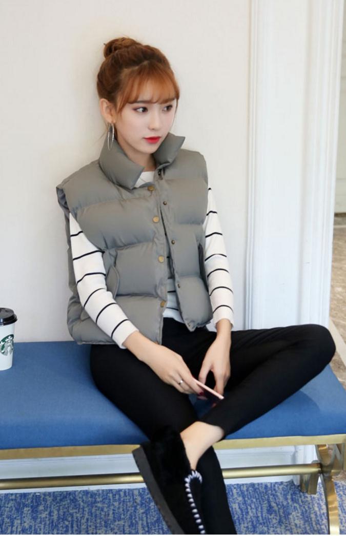 Women's winter vest jacket (Grey)