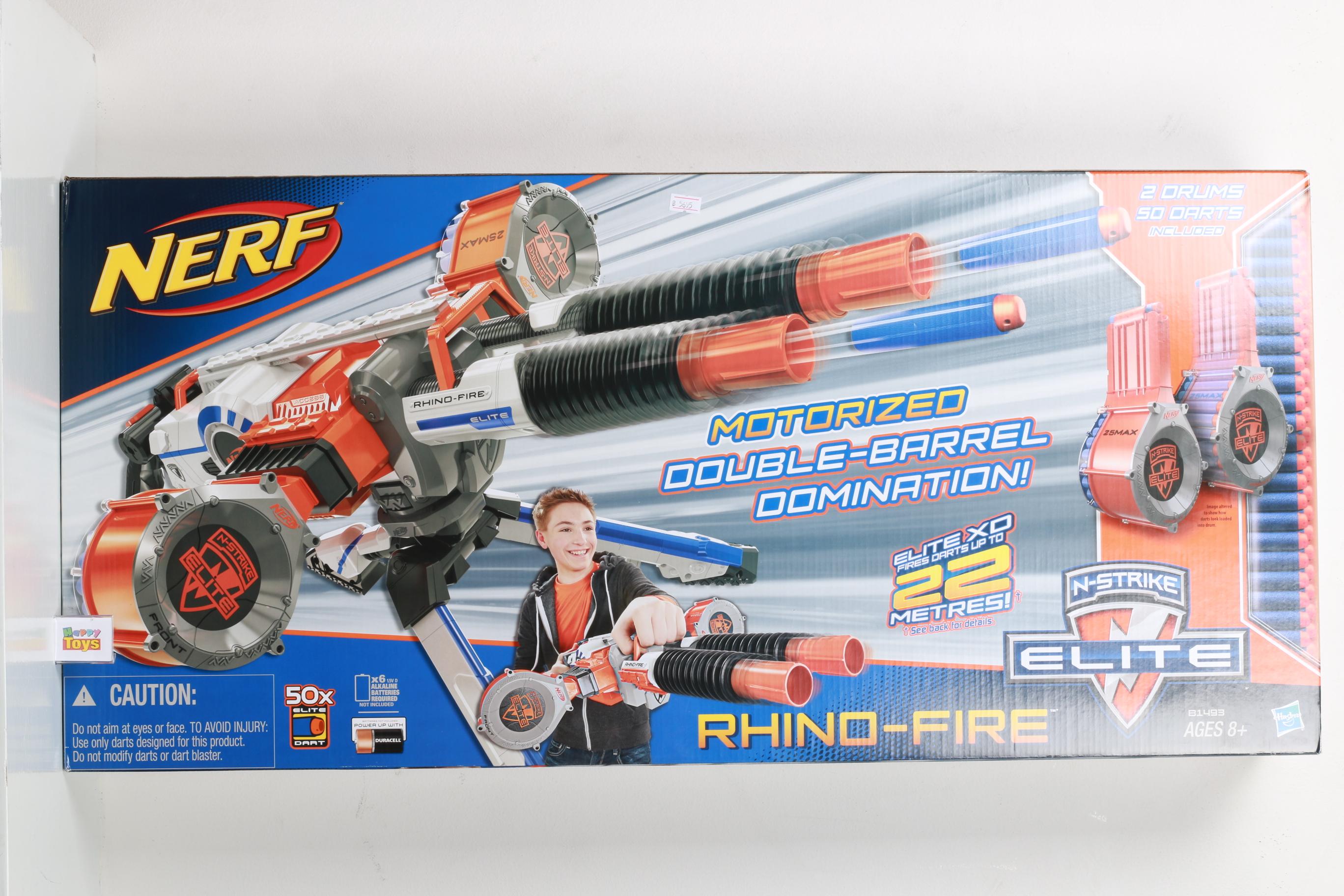 ปืน Nerf Rhino-fire ปืนยิงกระสุนฟองน้ำ ปืนเนิร์ฟ