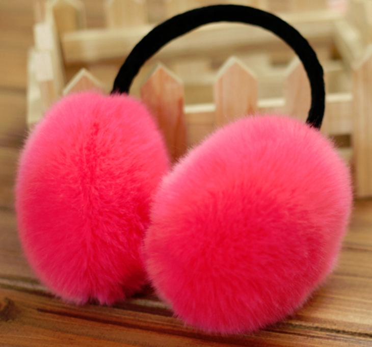 Furry Earmuffs ที่ปิดหูกันหนาว (สีชมพู)