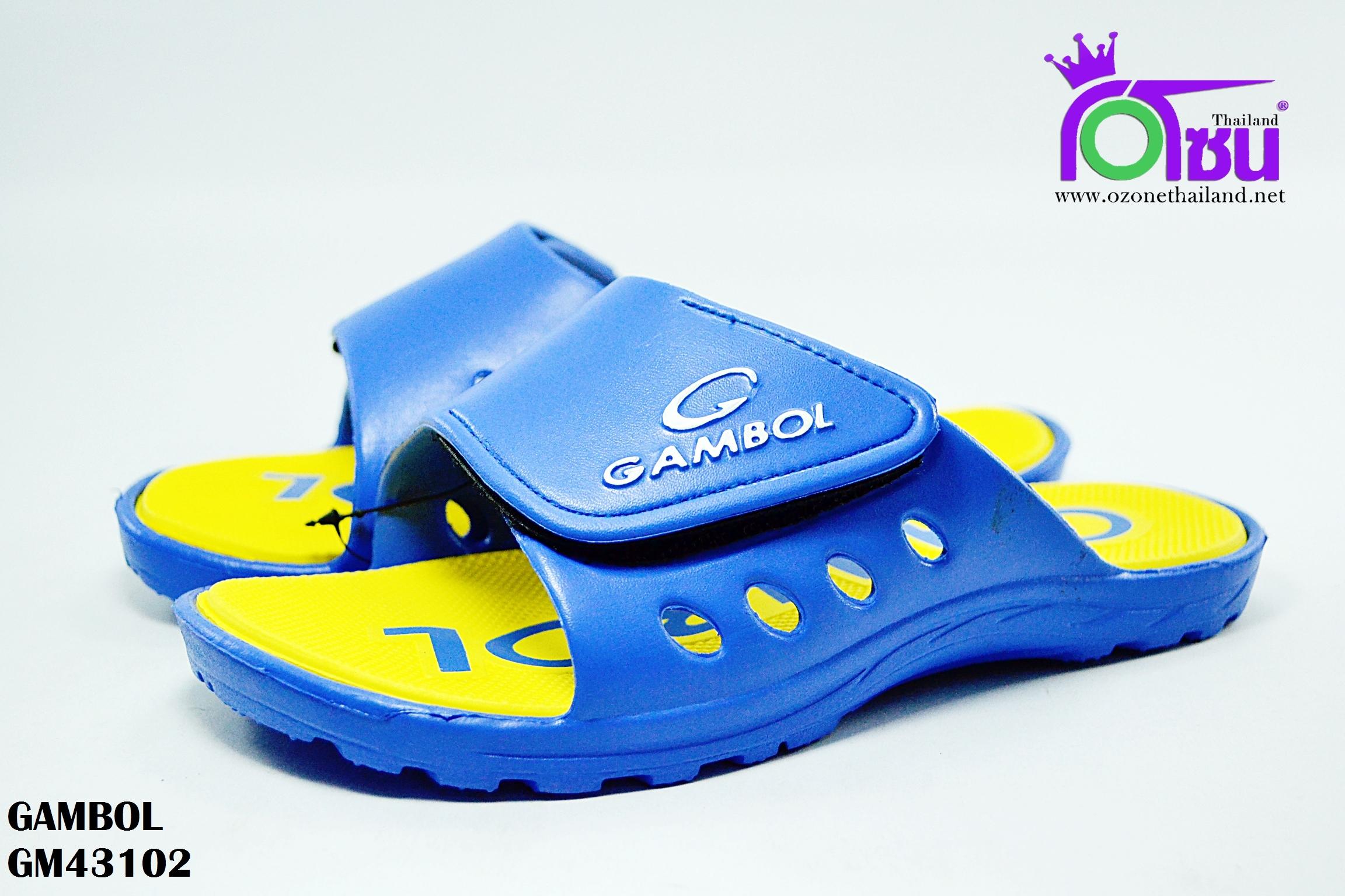 รองเท้าแตะ GAMBOL แกมโบล รุ่น GM 43102 สีน้ำเงิน/เหลือง เบอร์ 4-9