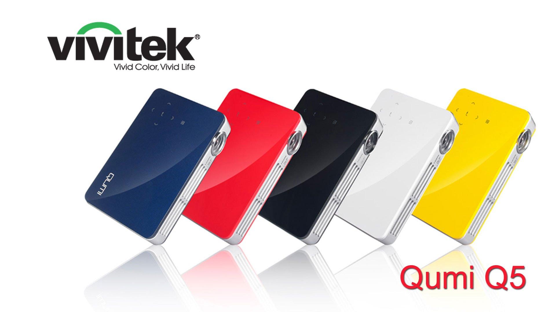 ต่อมือถือ Wireless!!! Vivitek Qumi Q5 โปรเจคเตอร์ระดับซูเปอร์มินิ 500LM ฉายได้ 20-120 นิ้ว ชัดสวดยวดระดับ HD 720p (1280*720) สำหรับงาน ออฟฟิส นำเสนอ พกพาโดยเฉพาะ
