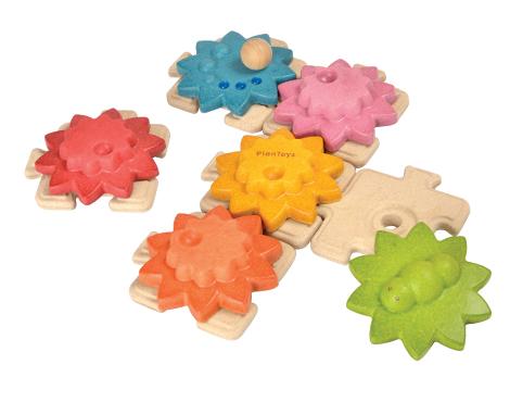 ของเล่นไม้ ของเล่นเด็ก ของเล่นเสริมพัฒนาการ Gears & Puzzles – Standard จิ๊กซอร์ดอกไม้ฟันเฟือง (ชุดเล็ก) (ส่งฟรี)