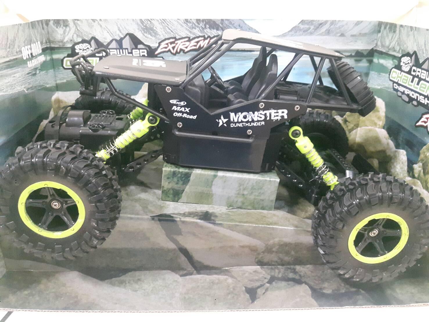 รถบังคับไต่หิน ROCK CRAWLER 4WD #บอดี้เหล็ก สเกล1:16 พร้อมแบตและหม้อแปลงชาร์จไฟบ้าน