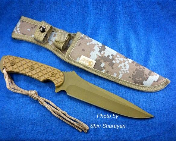 มีดพกสแตนเลสเคลือบสี Jintang Making SA31