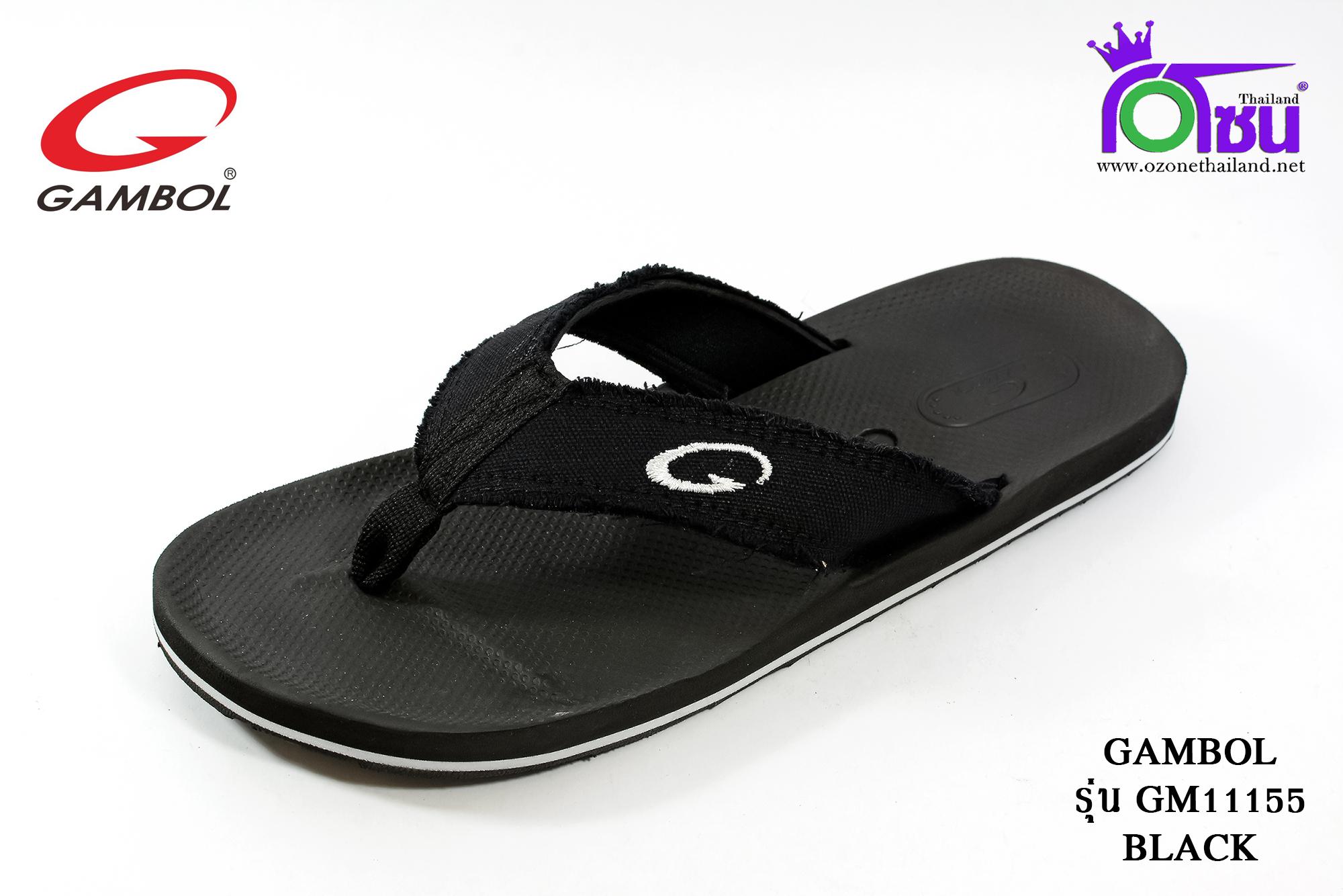 รองเท้าแตะGambol แกมโบล รหัส GM11155 สีดำ เบอร์ 45-46