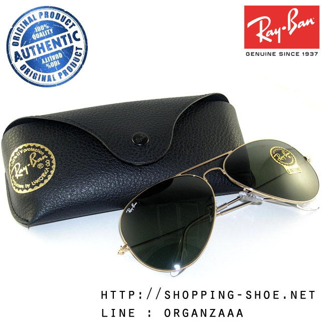 RayBan - RB3026 L2846 Aviator Large Metal II Classic Gold Frame, 62 mm.