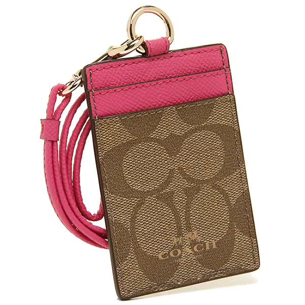 สายคล้องคอ COACH SIGNATURE LANYARD ID CASE F63274