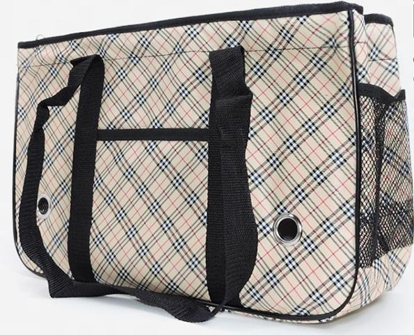 กระเป๋าน้องหมาสก็อตครีมไซด์ L