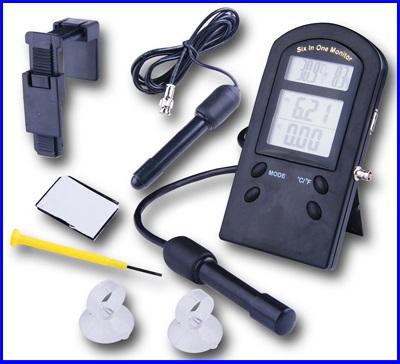 เครื่องมือวัด 6-in-1 Multi-Function pH °C °F %RH EC CF TDS Monitor Meter Tester Thermometer