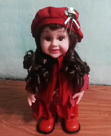 ตุ๊กตาสาวน้อย เต้นได้ เสื้อสีแดง มีเสียงเพลง (สินค้ามาใหม่ล่าสุด) (ส่งฟรีแบบพัสดุธรรมดา) ถ้าซื้อ 3 ตัว ราคาส่ง 300