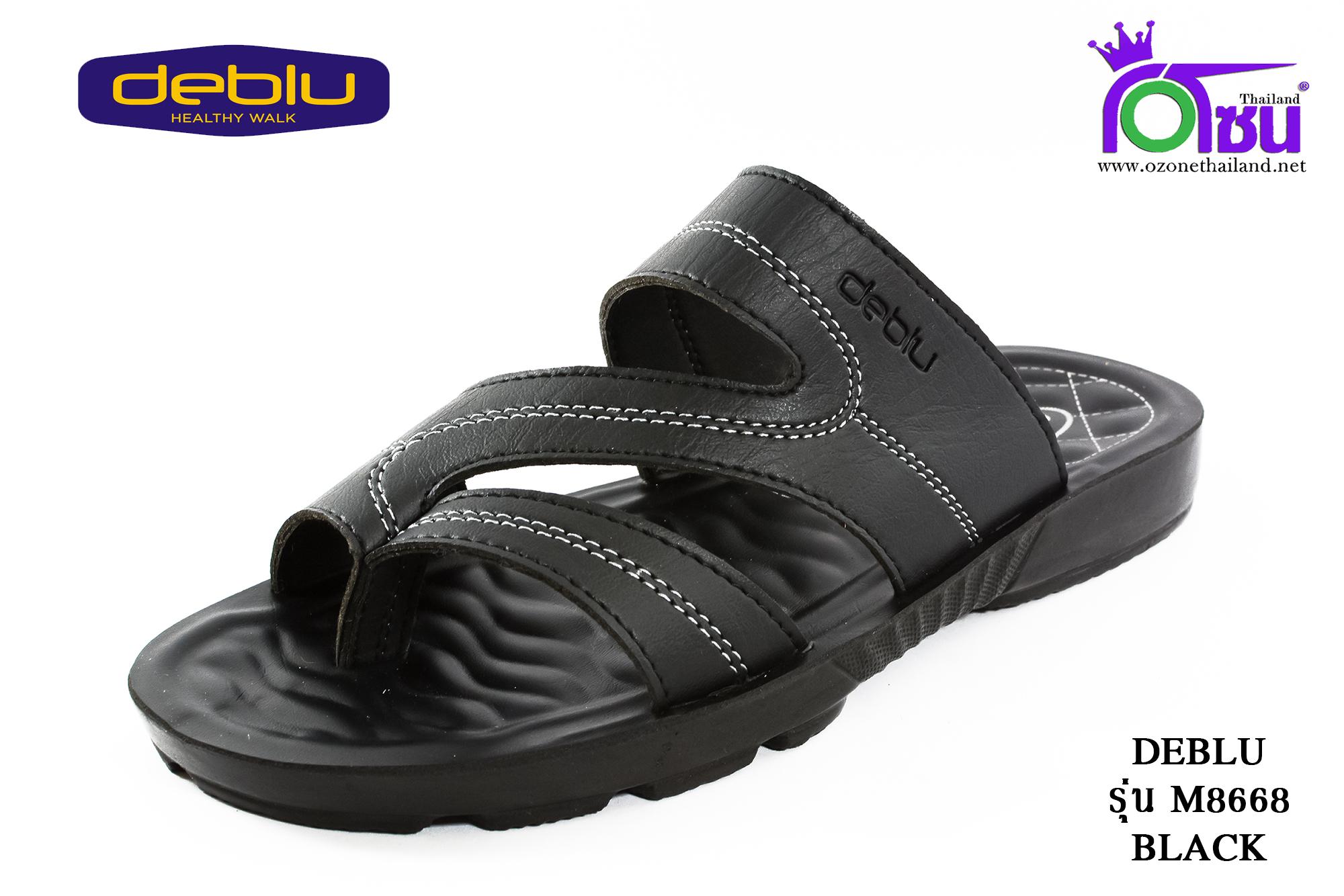 รองเท้าเพื่อสุขภาพ DEBLU เดอบลู รุ่น M8668 สีดำ เบอร์ 39-44
