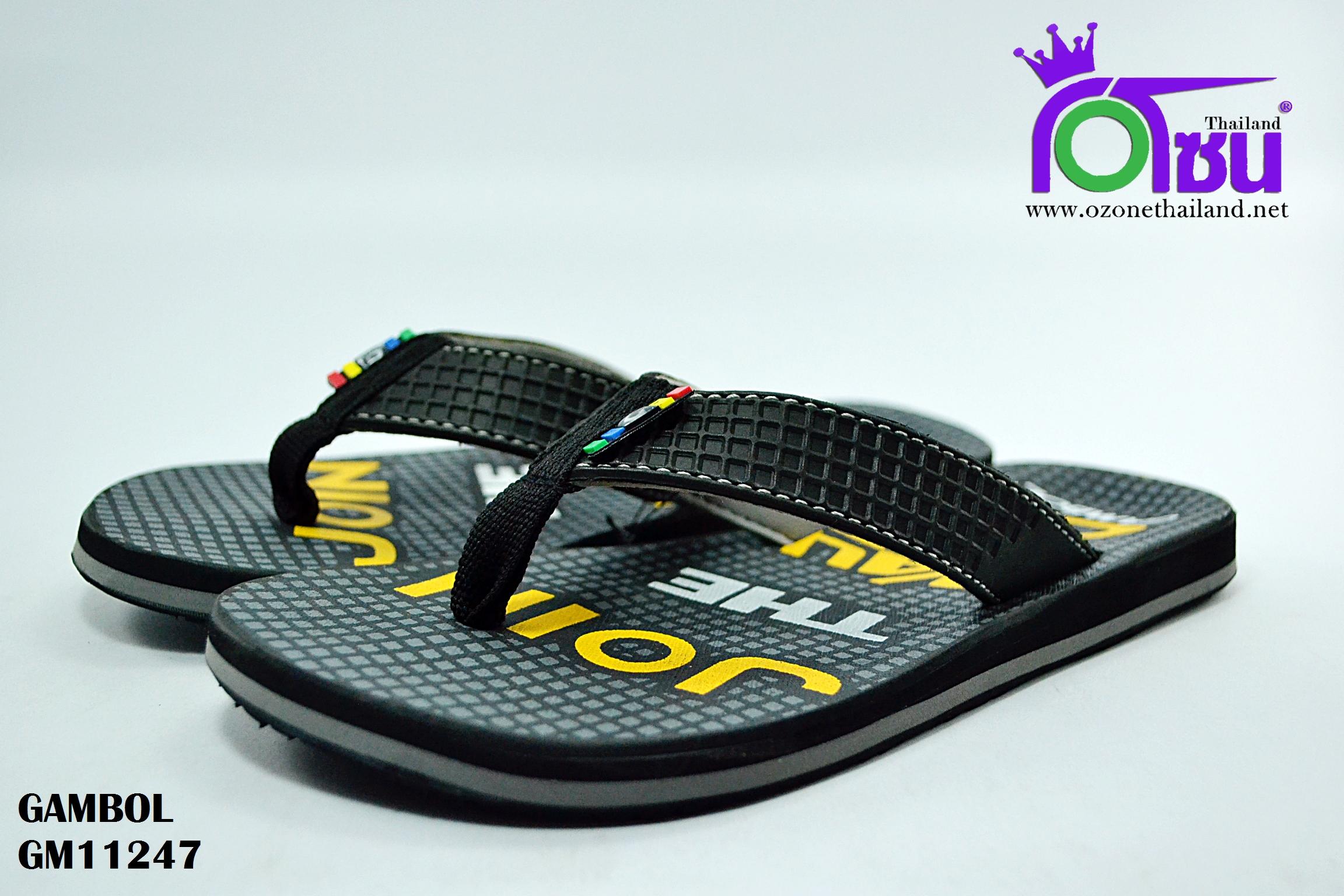 รองเท้าแตะ แกมโบล GAMBOL รุ่น GM11247 สี ดำ เบอร์ 40-44