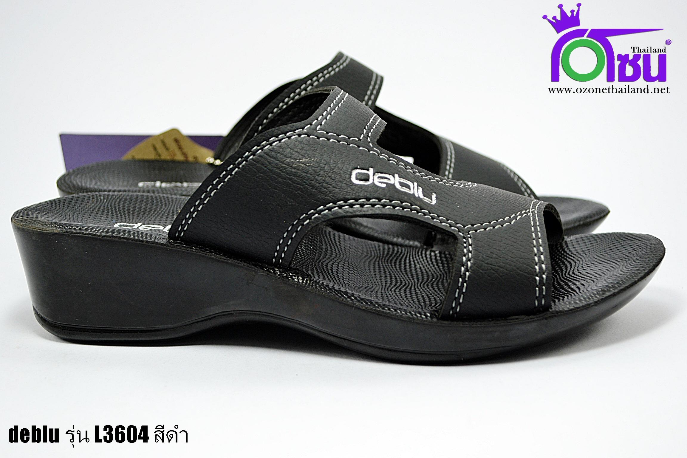 รองเท้าเดอบลู deblu รุ่น L3604 สีดำ เบอร์36-41