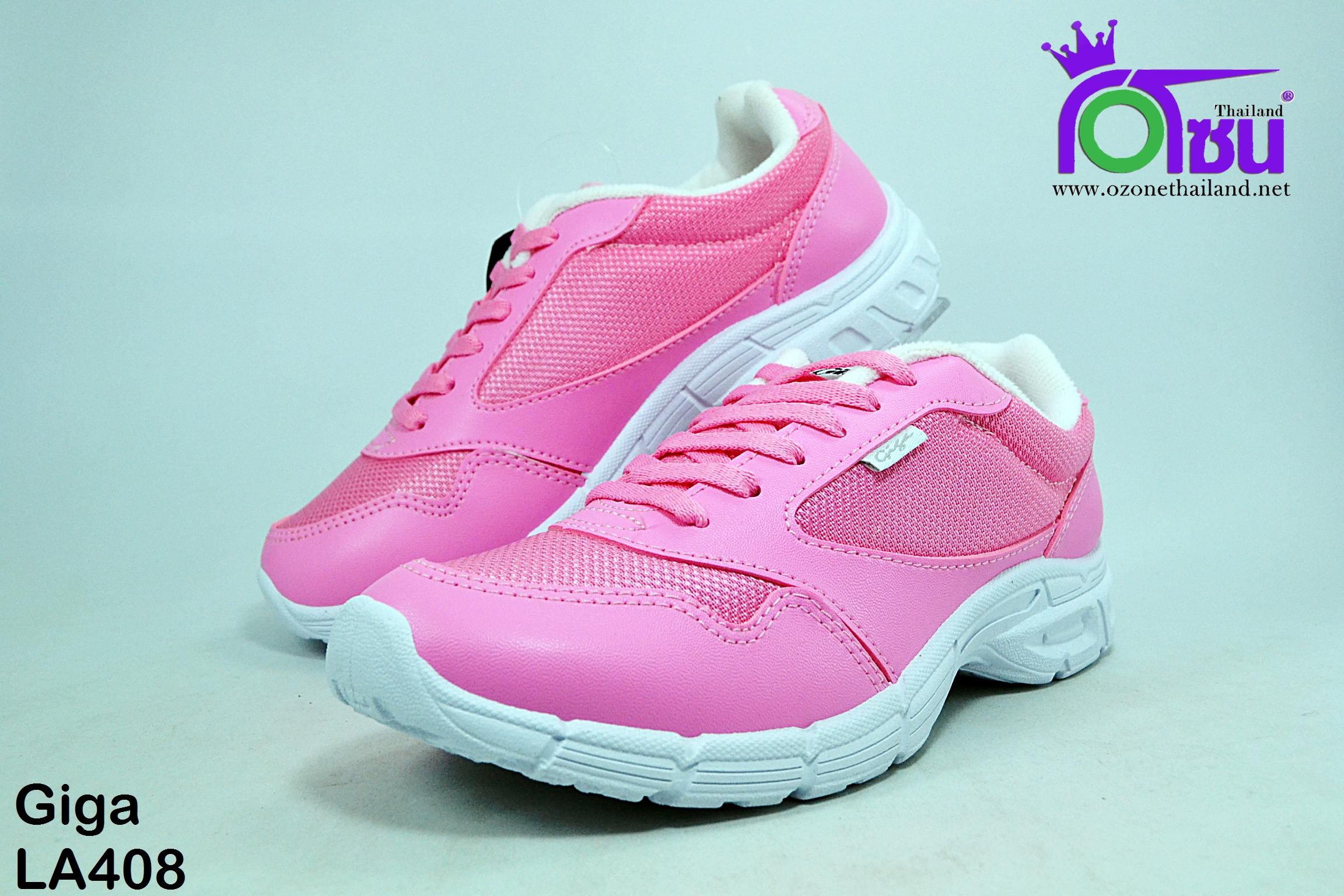 รองเท้า ผ้าใบ Giga กิ๊กก้า รุ่น LA408 สีชมพู เบอร์36-41