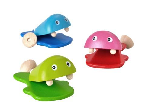 ของเล่นไม้ ของเล่นเด็ก ของเล่นเสริมพัฒนาการ Fish Castanet