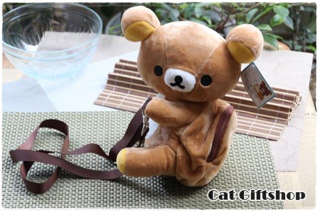 พร้อมส่ง :: กระเป๋าสะพายข้างตุ๊กตากอดเอว Rilakkuma