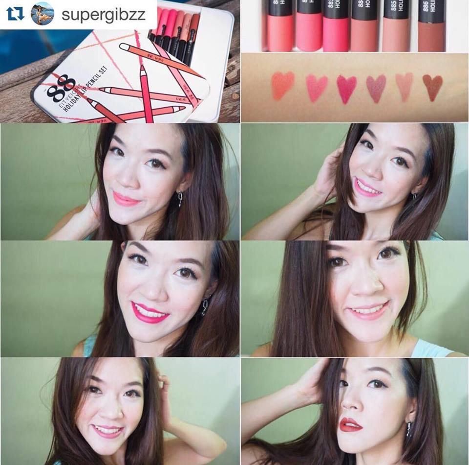 Ver88 Eighty Eight Holiday Lip Pencil Set Qwang Beauty
