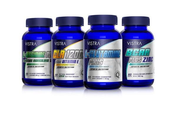 VISTRA SPORT NUTRITION เซตวิตามินเสริมสร้างกล้ามเนื้อ สำหรับผู้รักการออกกำลังกาย