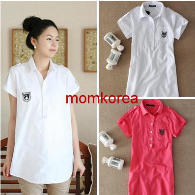 MS193 เสื้อคลุมท้องแฟชั่นเกาหลี มี 2 สี ให้เลือก ด้านหน้ามีกระดุมจริง เนื้อผ้านิ่ม ใส่สบายค่ะ
