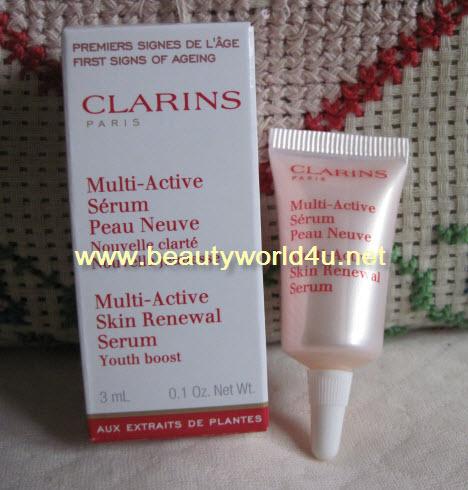 ขายส่ง Clarins multi active skin renewal serum youth boost 3 ml. (ขนาดทดลอง) x 5 อัน