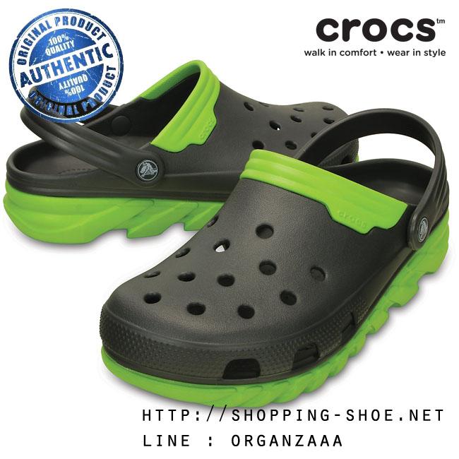 Crocs Duet Max Clog - Graphite / Volt Green ของแท้ Outlet ไทยและอเมริกา