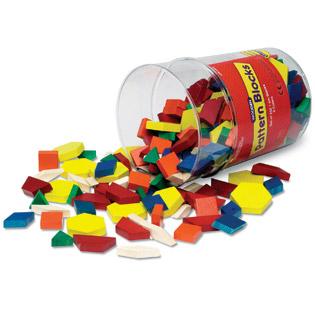 ของเล่นเด็ก ของเล่นเสริมพัฒนาการ Wooden Pattern Blocks