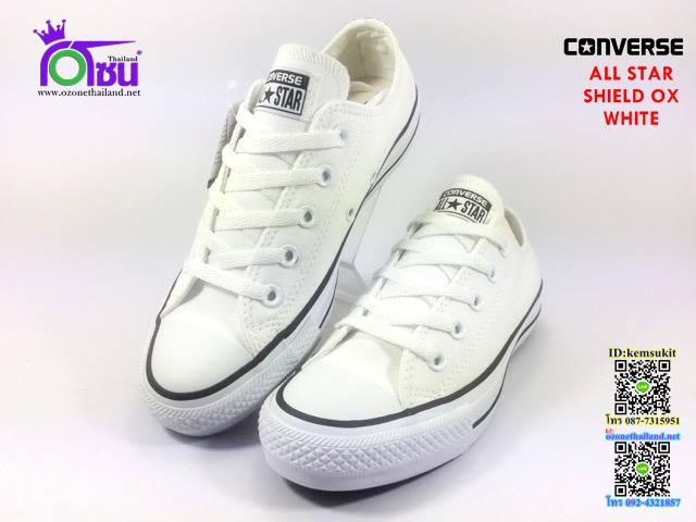 ผ้าใบ Converse All Star SHIELD ox White สี ขาว เบอร์4-10