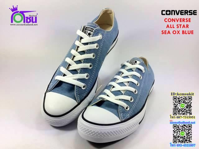 ผ้าใบ Converse All Star Sea ox Blue สี ฟ้า เบอร์4-10
