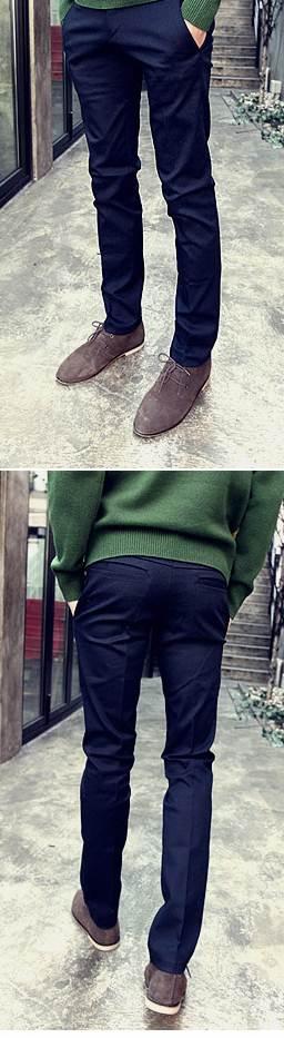 กางเกงสแลคแฟชั่น สลิมฟิต หลากสี No.28-32 กากีเข้ม น้ำเงิน ดำ