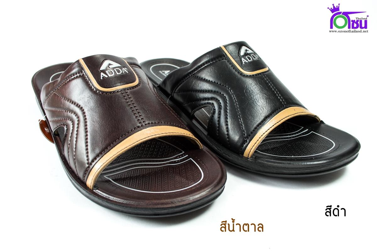 รองเท้าหนัง Adda 71M05-M1 ดำ-น้ำตาล 39-43