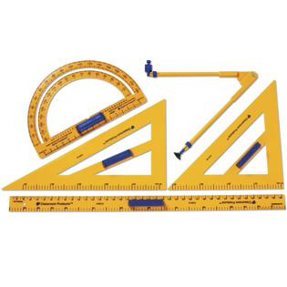 เครื่องเขียน อุปกรณ์การเรียน Plastic Demonstration Geometry Tool Set (ส่งฟรี)