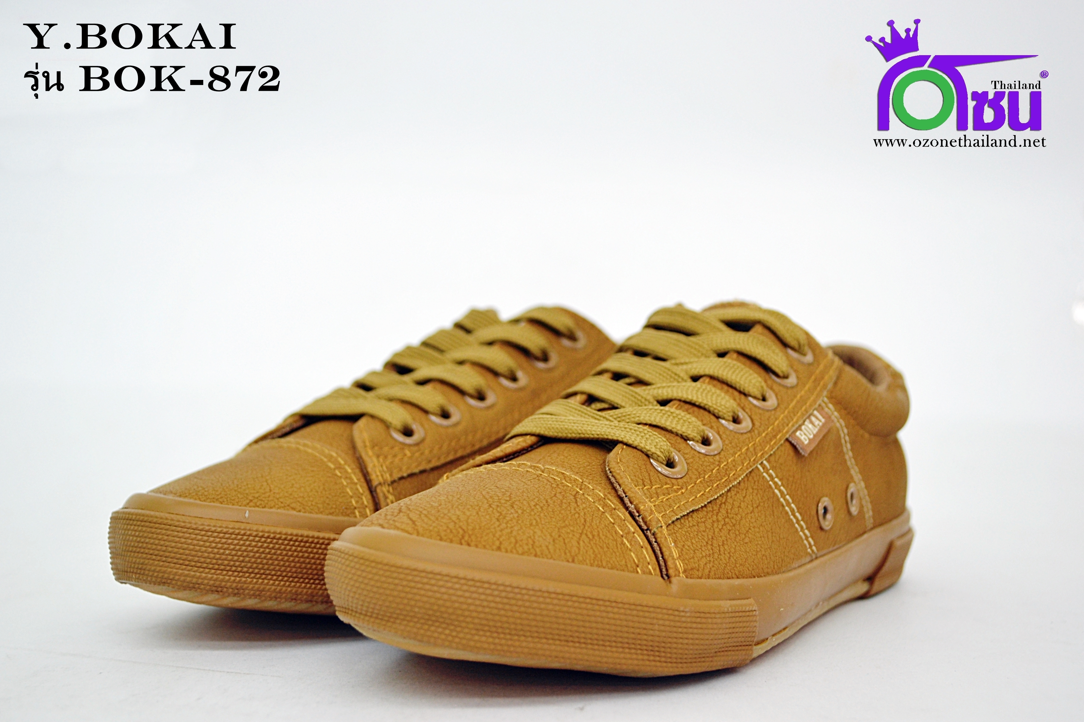 รองเท้าผ้าใบหญิงสปอร์ต Y.BOKAI รุ่นBOK-872 สีน้ำตาล เบอร์37-41