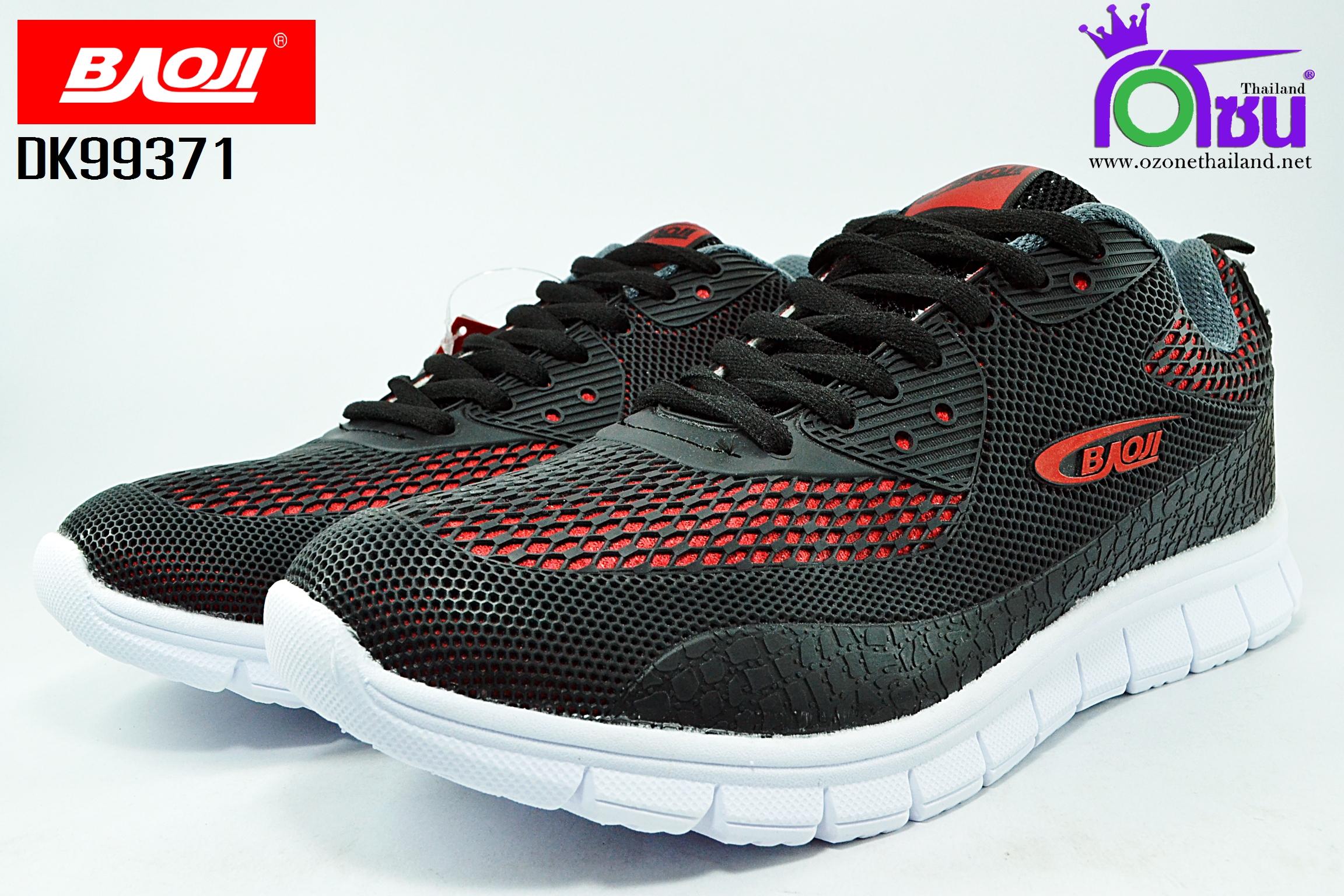 รองเท้าผ้าใบ BAOJI บาโอจิ รุ่น DK99371 สีดำแดง เบอร์ 41-45