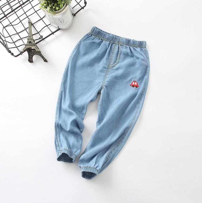 กางเกงขายาวสียีนส์แต่งลายรถที่ขา แพ็ค 5 ชิ้น [size 2y-3y-4y-5y-6y]
