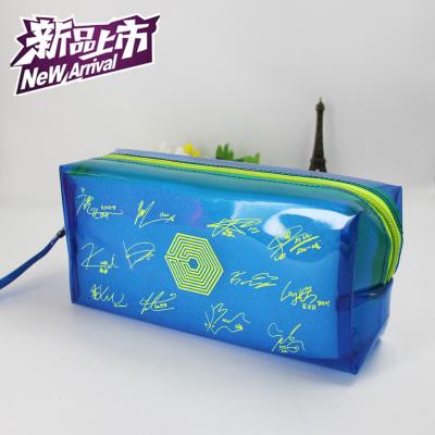 กระเป๋าดินสอ EXO Overdose สีน้ำเงิน (เรืองแสง)