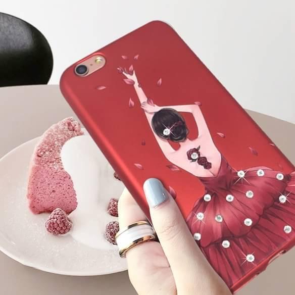 เคส tpu เจ้าหญิงติดเพชร แดงกำมะหยี่ ไอโฟน 74.7 นิ้วใช้ภาพรุ่นอื่นแทน)