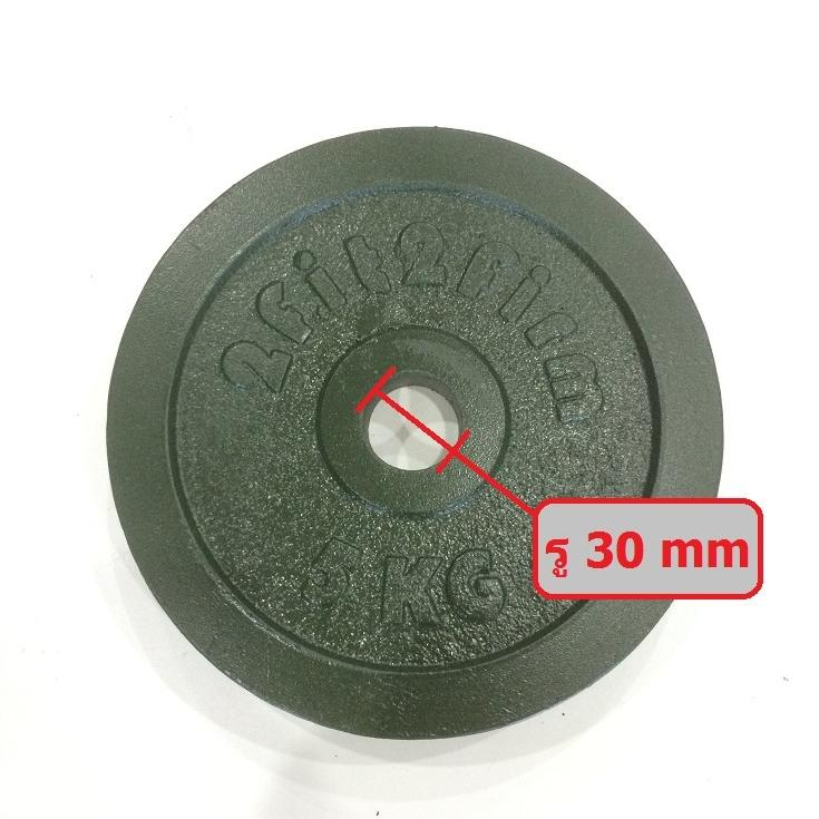 แผ่น 5 kg สีเขียวเข้ม