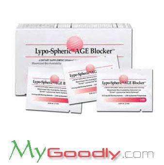 Lypo-Spheric AGE Blocker (เอจบล็อก) 1 กล่อง 30 ซอง ราคา 1300 บาท (สินค้าโปรโมชั่นลดราคา)