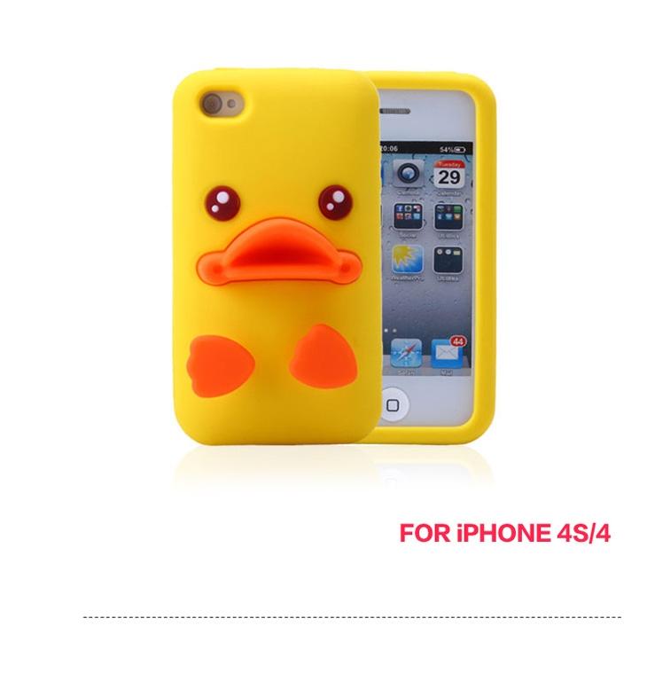เคสซิลิโคนเป็ดเหลือง 3d ไอโฟน 4,4s