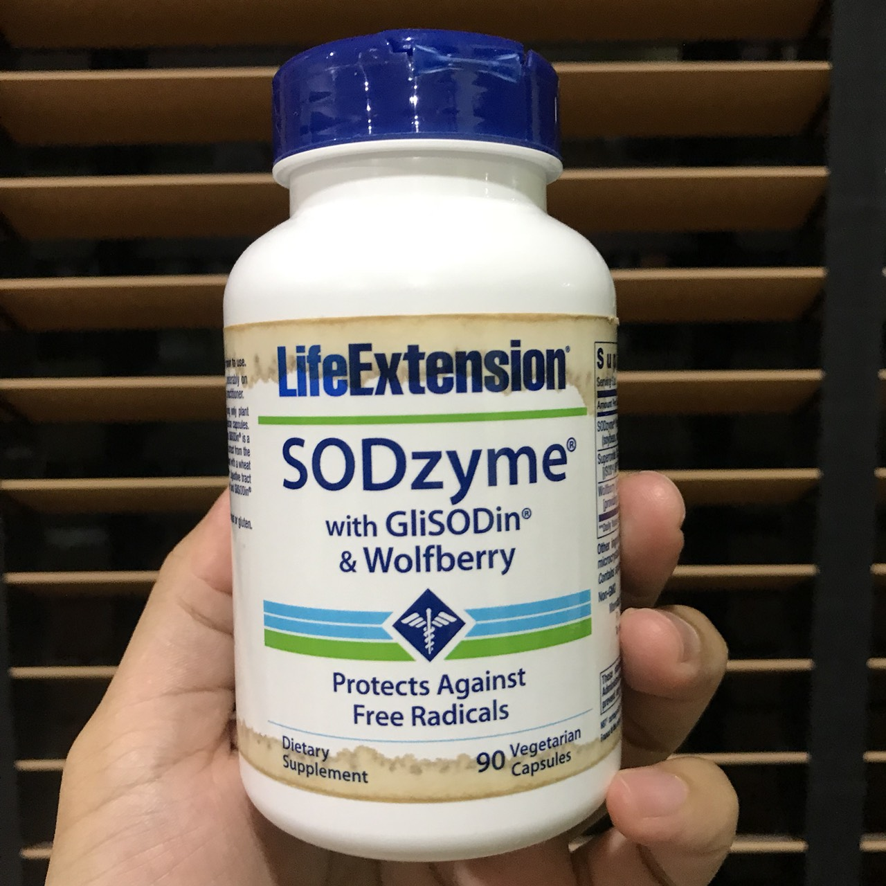 # ฉลากเปื้อน # Life Extension, SODzyme with GliSODin & Wolfberry, 90 Veggie Caps