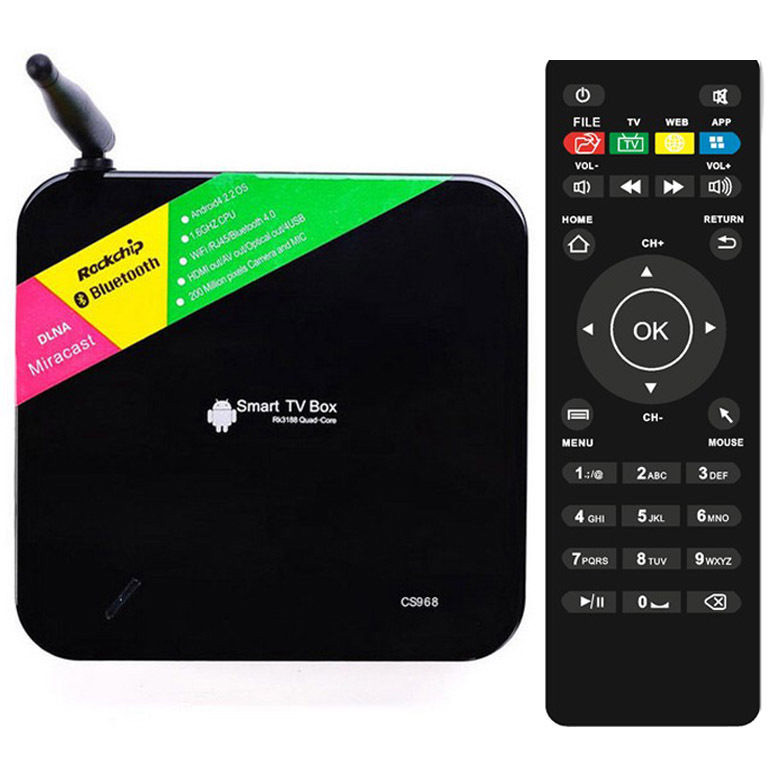 Android Smart TV Box CS968 CPU RK 3188 Ram 2G แรงและเร็ว